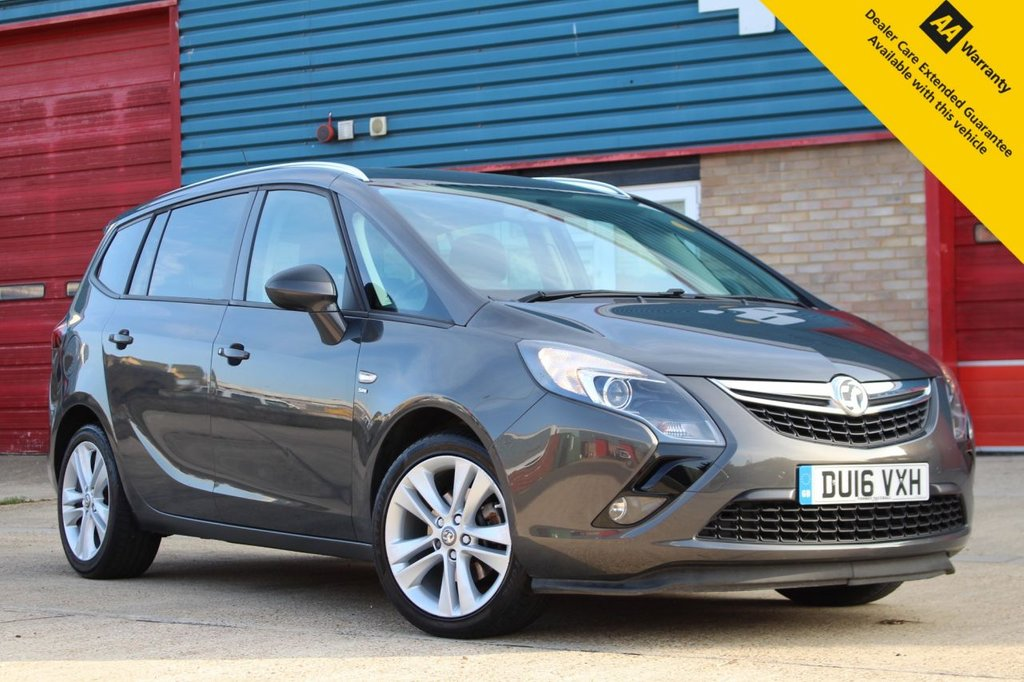 USED 2016 16 VAUXHALL ZAFIRA TOURER 1.6 SRI CDTI ECOFLEX S/S 5d 134 BHP ** GREAT VALUE LOW MILEAGE 7 SEATER ** BRAND NEW SERVICE ** LONG ADVISORY FREE MOT ** FRONT + REAR PARKING AID ** CRUISE CONTROL ** BLUETOOTH ** ONLY £30 ROAD TAX ** LOW RATE £0 DEPOSIT FINANCE AVAILABLE **