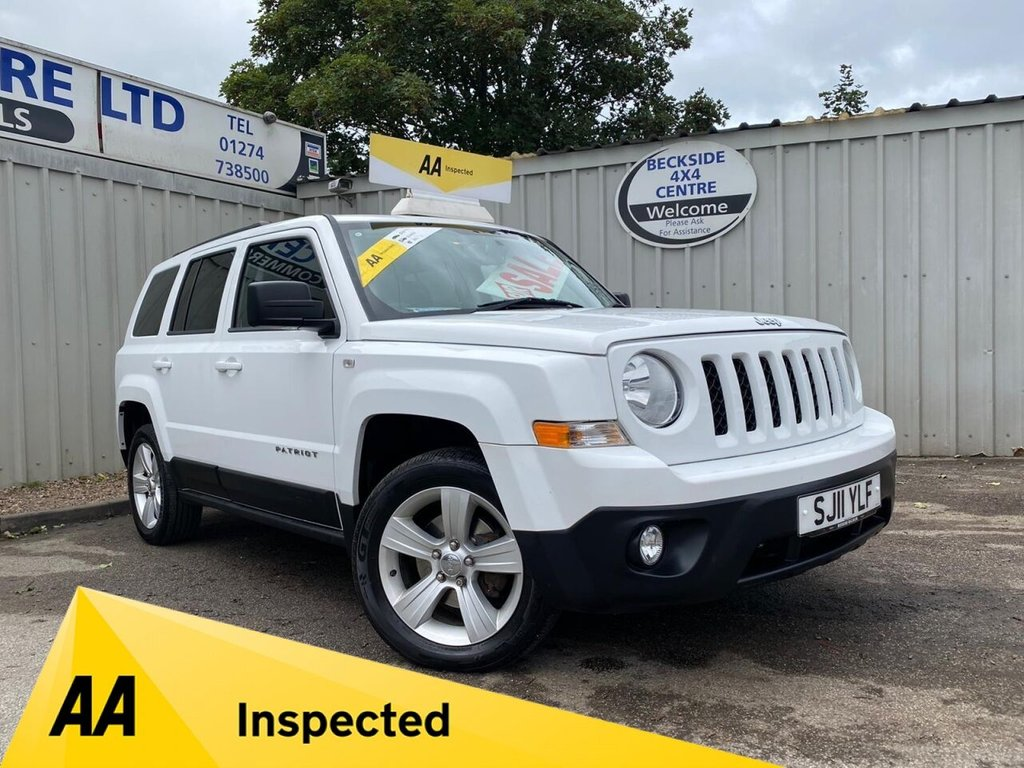 USED 2011 11 JEEP PATRIOT 2.1 CRD SPORT PLUS 5d 161 BHP AA INSPECTED. FINANCE. WARRANTY. LOW MILEAGE