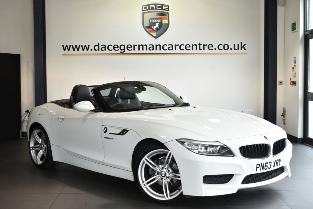 USED 2013 63 BMW Z4 2.0 Z4 SDRIVE20I M SPORT ROADSTER 2DR 181 BHP Finished in a stunning alpine white styled with alloys. Upon opening the drivers door you are presented with half leather interior, superb service history, bluetooth, dab radio, sport seats, Multifunction steering wheel, Headlight cleaning system, Automatic air conditioning, rain sensors