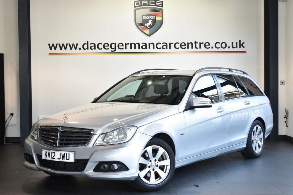 """USED 2012 12 MERCEDES-BENZ C-CLASS 2.1 C200 CDI BLUEEFFICIENCY SE 5DR AUTO 135 BHP Finished in a stunning iridium metallic silver styled with 16"""" alloys. Upon opening the drivers door you are presented with cloth upholstery, bluetooth, cruise control, multi functional steering wheel, LED daytime running lights, rain sensors, parking sensors"""