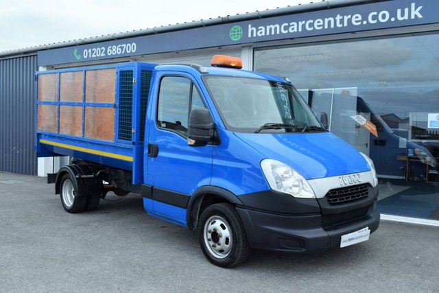 2014 14 IVECO DAILY 2.3 35C11 3500KG TWIN REAR WHEEL CAGE TIPPER NO VAT