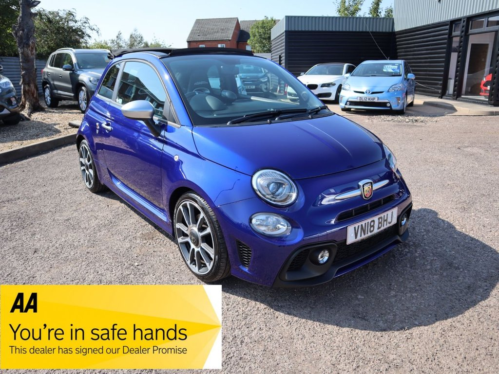 USED 2018 18 ABARTH 500 1.4 595C TURISMO 3d 165 BHP STUNNING COLOUR WITH DEALERSHIP SERVICE HISTORY