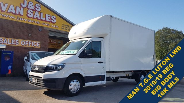 USED 2019 19 MAN TGE VW 140 BHP LUTON T/LIFT 2019/19 REG EURO 6 T.G.E  ## ALL NEW MAN T.G.E 140 EURO 6 LUTON WITH A/C ##