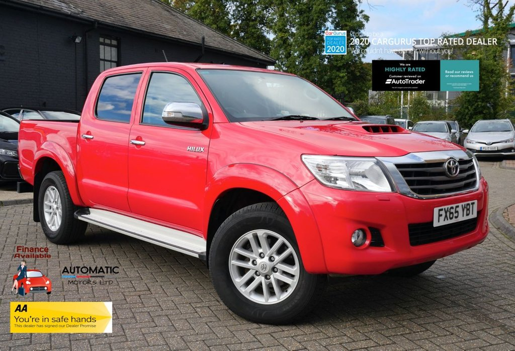 USED 2015 65 TOYOTA HI-LUX 2.5 ICON 4X4 D-4D DCB 0d 142 BHP 2015 TOYOTA HI-LUX 2.5 ICON 4X4 D-4D  2 KEYS 1 OWNER BLUETOOTH AIRCON