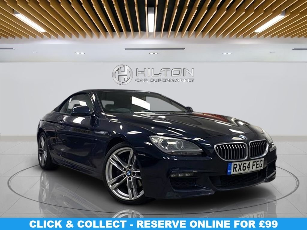 """USED 2015 64 BMW 6 SERIES 3.0 640D M SPORT 2d 309 BHP Navigation System, Leather Seats, 20"""" Alloy Wheels, Parking Sensor(s), Climate Control"""