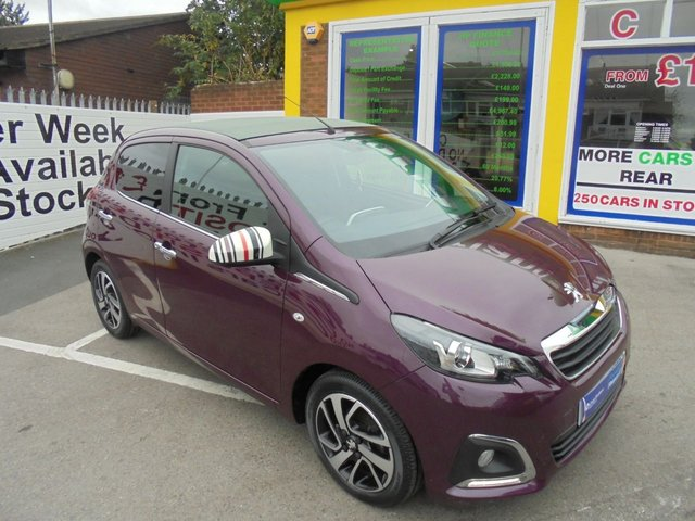 USED 2015 15 PEUGEOT 108 1.2 ALLURE TOP 5d 82 BHP £0 DEPOSIT FINANCE DEALS AVAILABLE