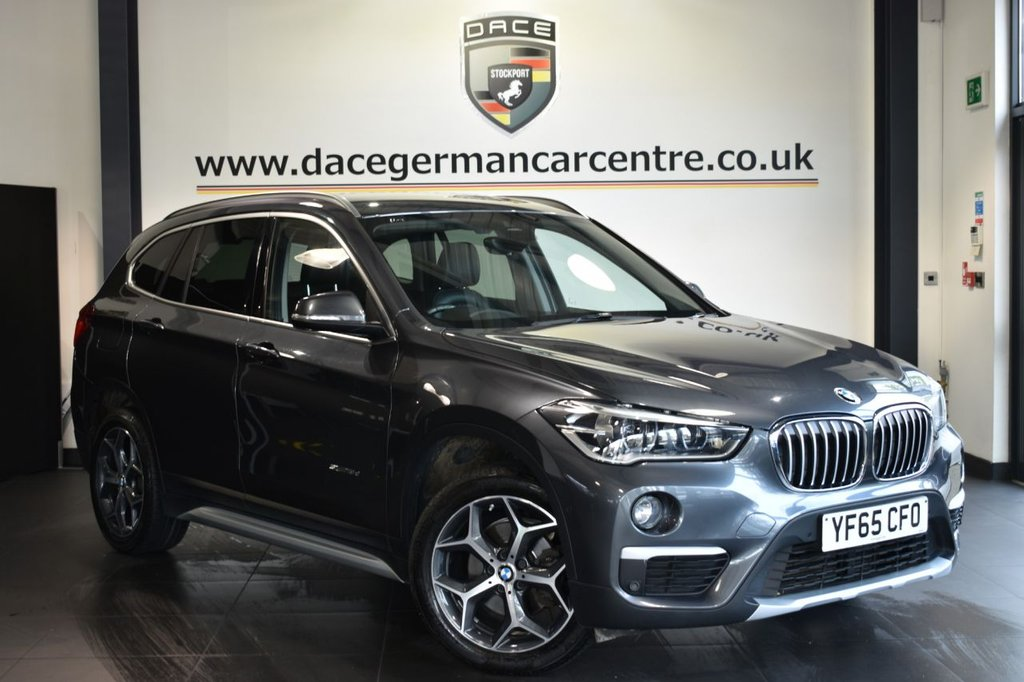 USED 2015 65 BMW X1 2.0 SDRIVE18D XLINE 5DR 148 BHP Finished in a stunning mineral metallic grey styled with alloys. Upon opening the drivers door you are presented with full leather interior, full service history, satellite navigation, bluetooth, heated seats, cruise control, dab radio, Park Assist, Multifunction steering wheel, Performance Control, Automatic air conditioning, Light package, LED headlight with extended scopes, parking sensors