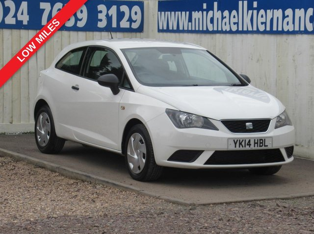 USED 2014 14 SEAT IBIZA 1.2 S A/C 3d 69 BHP FSH, BLUETOOTH, AUX. LOW MILES