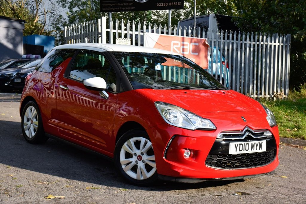 USED 2010 10 CITROEN DS3 1.6 DSTYLE 3d 120 BHP