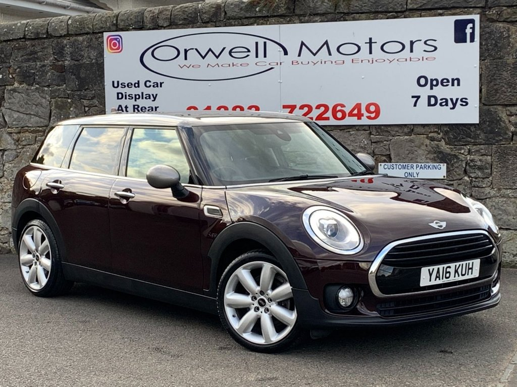 USED 2016 16 MINI CLUBMAN 1.5 COOPER 5d 134 BHP FULL MINI SERVICE HISTORY+SATELLITE NAVIGATION+CRUISE CONTROL+HALF LEATHER INTERIOR+CHILLI PACK+FINANCE AVAILABLE