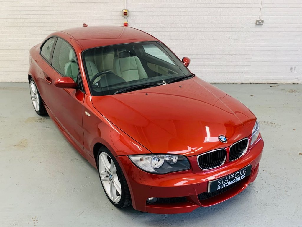 USED 2008 08 BMW 1 SERIES 2.0 123D M SPORT 2d 202 BHP HEATED LEATHER, PDC, 18IN ALLOYS, ELECTRIC SEATS