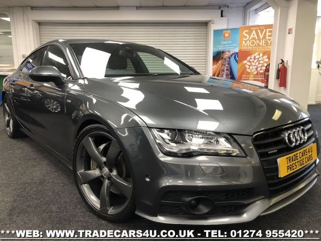 USED 2013 13 AUDI A7 3.0 TDI QUATTRO BLACK EDITION 5d 309 BHP FREE UK DELIVERY*VIDEO AVAILABLE* FINANCE ARRANGED* PART EX*HPI CLEAR
