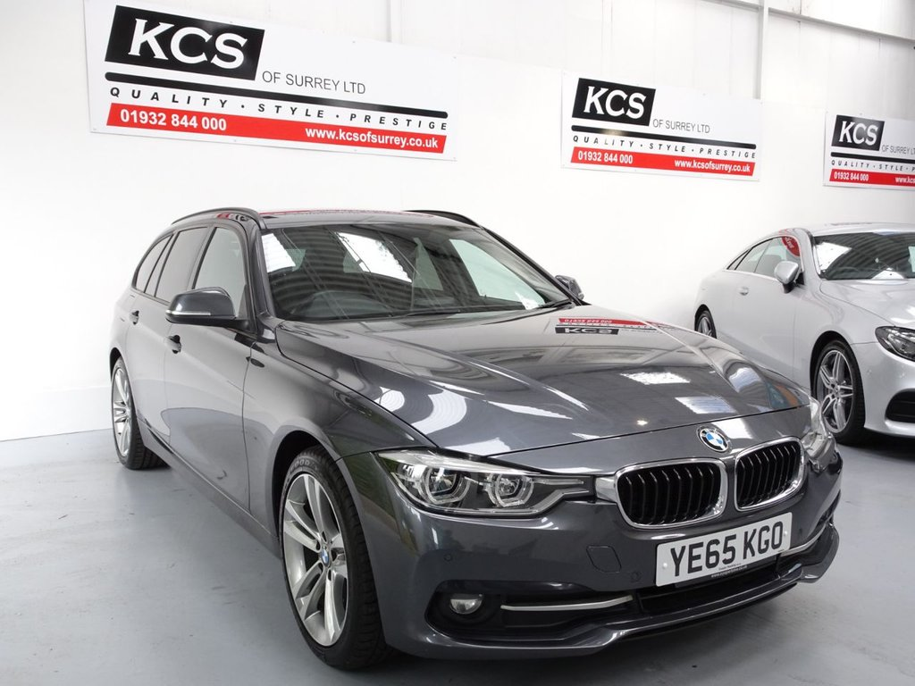USED 2015 65 BMW 3 SERIES 2.0 318D SPORT TOURING 5d 148 BHP SAT NAV - LEATHER - HTD SEATS