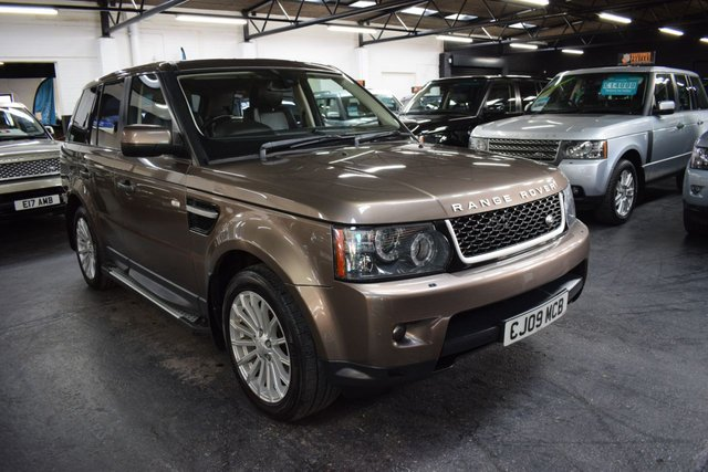 USED 2010 60 LAND ROVER RANGE ROVER SPORT 3.0 TDV6 SE 5d 245 BHP LOVELY CONDITION - RARE NARA BRONZE - 7 STAMPS TO 85K - LEATHER - NAV - SIDE STEPS - PRIVACY GLASS