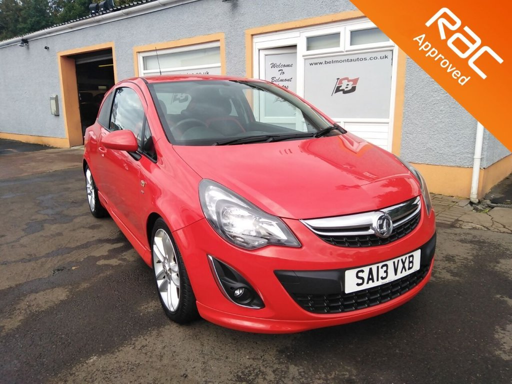 "USED 2013 13 VAUXHALL CORSA 1.4 SRI 3d 98 BHP 17"" Alloys, Air Conditioning, Remote Central locking, 5 Service Stamps"