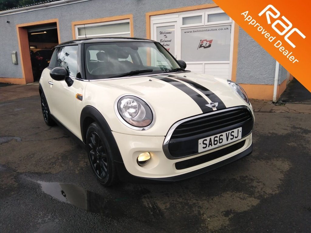 "USED 2016 66 MINI HATCH COOPER 1.5 COOPER 3d 134 BHP Mini connected, Black 16"" alloys, USB/AUX"