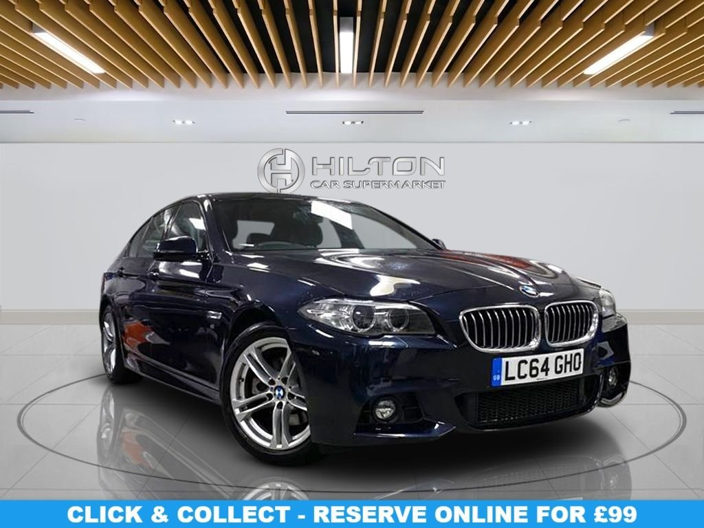 """USED 2014 64 BMW 5 SERIES 2.0 520D M SPORT 4d 188 BHP Automatic Transmission, 18"""" Alloys, Leather Seats, Navigation System, Parking Sensor(s), Climate Control"""