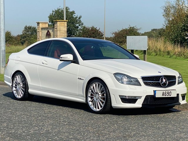 """USED 2013 63 MERCEDES-BENZ C-CLASS 6.2 C63 AMG 2d 457 BHP Red Leather, 19"""" Multi-Spoke"""