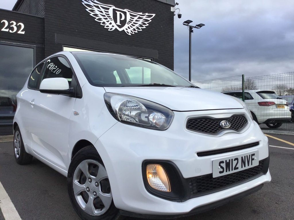 USED 2012 12 KIA PICANTO 1.0 1 3d 68 BHP WARRANTY,  MOT AND SERVICE INC