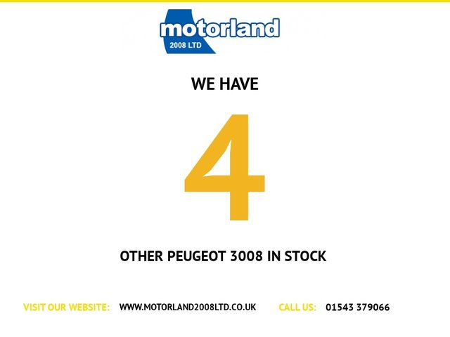 USED 2014 64 PEUGEOT 3008 1.6 HDI ACTIVE 5d 115 BHP ** 01543 379066 ** JUST ARRIVED ** FULL SERVICE HISTORY **DIESEL