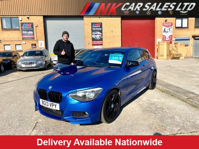 2013 13 BMW 1 SERIES 2.0 116D M SPORT 3d 114 BHP SOLD TO DANIEL FROM CHESTERFIELD