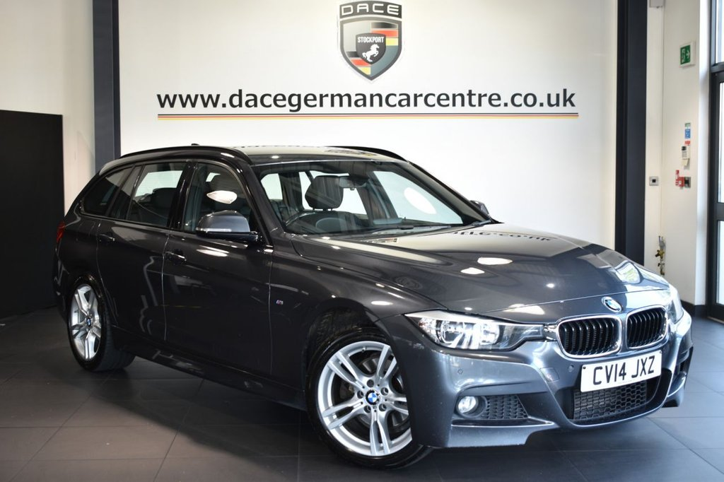 USED 2014 14 BMW 3 SERIES 3.0 330D XDRIVE M SPORT TOURING 5DR 255 BHP Finished in a stunning mineral metallic grey styled with alloys. Upon opening the drivers door you are presented with full leather interior, full service history, pro satellite navigation, bluetooth, sport seats, dab radio, Multifunction steering wheel, Automatic air conditioning, rain sensors, Light package, Connected Drive Services, parking sensors