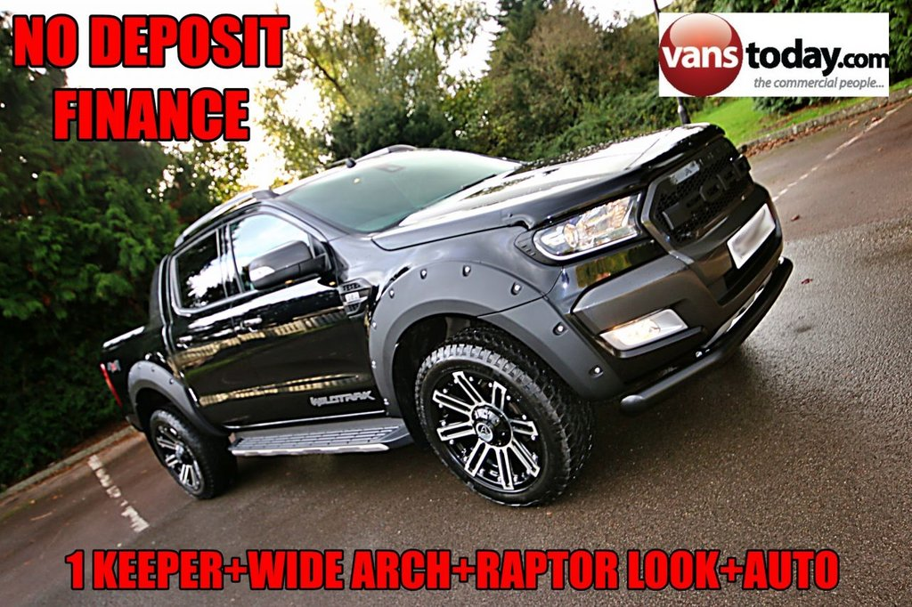 USED 2017 66 FORD RANGER 3.2 WILDTRAK 4X4 DCB TDCI 4d 197 BHP AUTO + ROLLER + LOW MILES + TOW PACK 1 KEEPER + AUTO + 3.2 TDCI 200 BHP + ROLLER SHUTTER + TOW PACK