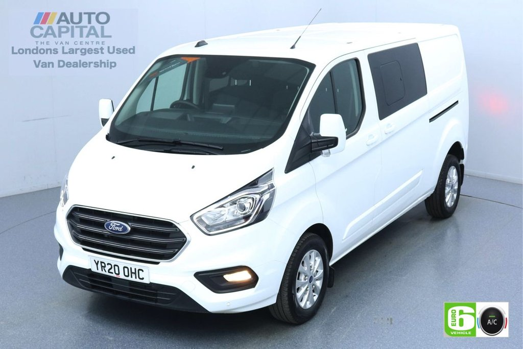 USED 2020 20 FORD TRANSIT CUSTOM 2.0 320 Limited EcoBlue 130 Bhp L2 H1 6 Seats Combi Low Emission Eco Mode | Auto Start-Stop | Front and rear Parking distance sensors