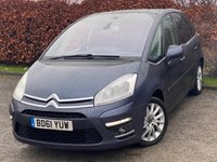 USED 2011 61 CITROEN C4 PICASSO 1.6 EXCLUSIVE I 16V EGS 5d 154 BHP * AUTOMATIC * FAMILY VEHICLE * FULL GLASS PANORAMIC SUNROOF WITH BLIND *