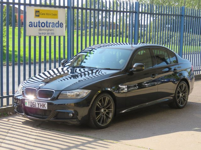USED 2011 61 BMW 3 SERIES 2.0 320D SPORT PLUS EDITION  4d 181 BHP HEATED LEATHER, SAT NAV, HISTORY  HEATED BLACK LEATHER SEATS WITH BLUE STITCHING, PROFESSIONAL SAT NAV, BLUETOOTH WITH VOICE CONTROL, SERVICE HISTORY, CD RADIO