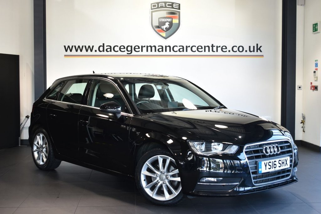 USED 2016 16 AUDI A3 2.0 TDI SPORT NAV 5DR 148 BHP Finished in a stunning styled with alloys. Upon opening the drivers door you are presented with half leather interior, full service history, satellite navigation, bluetooth, cruise control, dab radio, multi functional steering wheel, climate control, heated mirrors, parking sensors