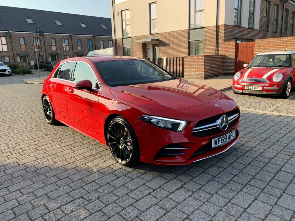USED 2019 69 MERCEDES-BENZ A-CLASS 2.0L AMG A 35 4MATIC EXECUTIVE 5d 302 BHP WIDE INFOTAINMENT, KEYLESS, WARRANTY, LEATHERS, CAT S