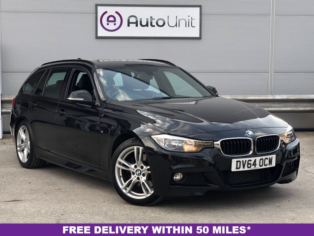 USED 2014 64 BMW 3 SERIES 3.0 330D M SPORT TOURING 5d 255 BHP AUTOMATIC SAT NAV + LEATHER + BLUETOOTH