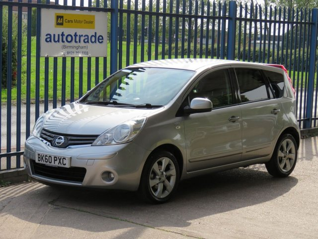 USED 2010 60 NISSAN NOTE 1.4 N-TEC 5d 87 BHP ULEZ COMPLIANT, SAT NAV, BLUETOOTH, PRIVACY GLASS,  Service History-Sat Nav-Air Conditioning Privacy Glass, Alloy Wheels, CD Radio, Central Locking, Power Folding Door Mirrors