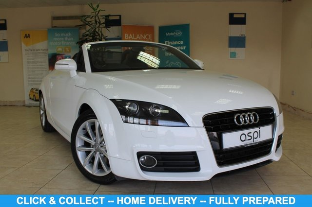 """USED 2013 63 AUDI TT 1.8 TFSI SPORT 2d 158 BHP ROADSTER BLACK LEATHER & SUEDE INTERIOR, CLIMATE CONTROL, BLUETOOTH, 17"""" ALLOY WHEELS, DAB RADIO, LOW MILEAGE, STUNNING CONVERTIBLE"""