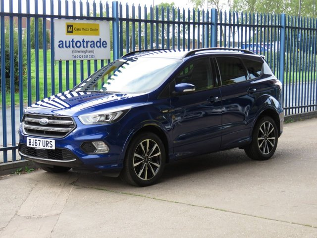 USED 2017 67 FORD KUGA 2.0 ST-LINE TDCI 5d 148 BHP SAT NAV, REAR CAMERA, PARK ASSIST, ULEZ COMPLIANT TOUCHSCREEN SAT NAV,ACTIVE PARK ASSIST WITH  FRONT AND REAR PARKING SENSORS AND REVERSE CAMERA, PRIVACY GLASS, CRUISE CONTROL, BLUETOOTH, WITH VOICE CONTROL AND USB, SERVICE HISTORY