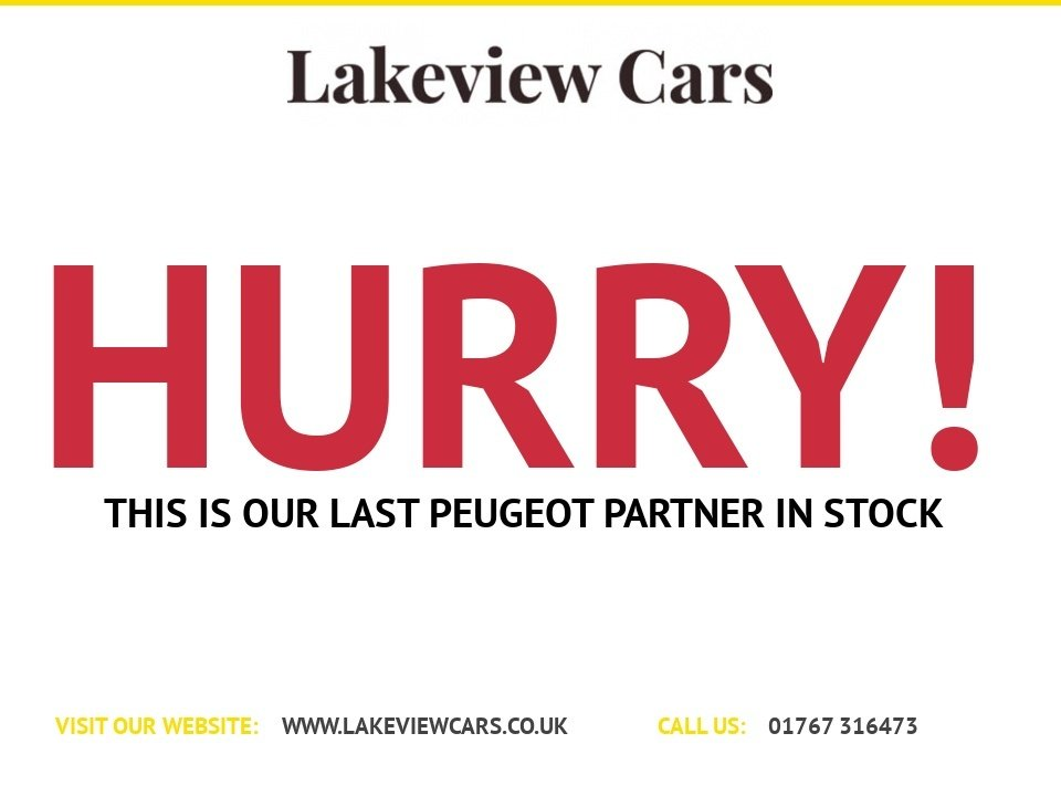 USED 2015 15 PEUGEOT PARTNER 1.6 HDI S/S TEPEE S 5d 92 BHP