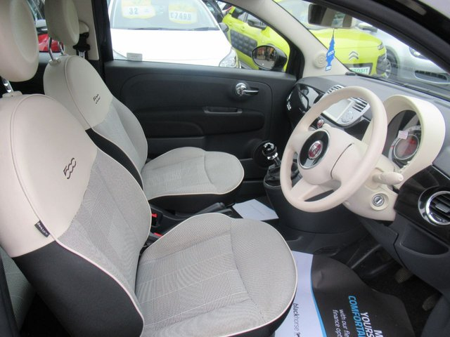 USED 2015 15 FIAT 500 1.2 POP STAR 3d 69 BHP 1 OWNER VEHICLE..LOW TAX AND LOW INSURANCE