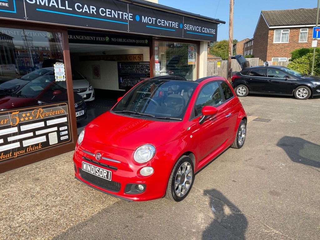 USED 2014 N FIAT 500 1.2 C S 3d 69 BHP USB - BLUETOOTH - REAR PARKING SENSORS