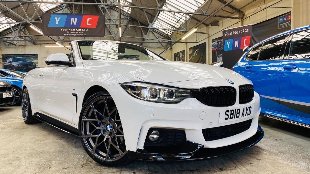 USED 2018 18 BMW 4 SERIES 2.0 420d M Sport Auto (s/s) 2dr PERFORMANCEKIT+COMFORT&MPLUS
