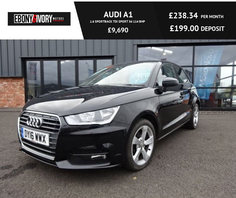 USED 2016 16 AUDI A1 1.6 SPORTBACK TDI SPORT 5d 114 BHP FULLY SERVICED+1 YEAR MOT+BREAKDOWN COVER