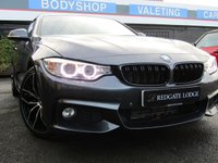 USED 2015 15 BMW 4 SERIES 2.0 420D M SPORT 2d 188 BHP PRO SAT/NAV, HEATED SEATS, FULL LEATHER, TINTED GLASS..