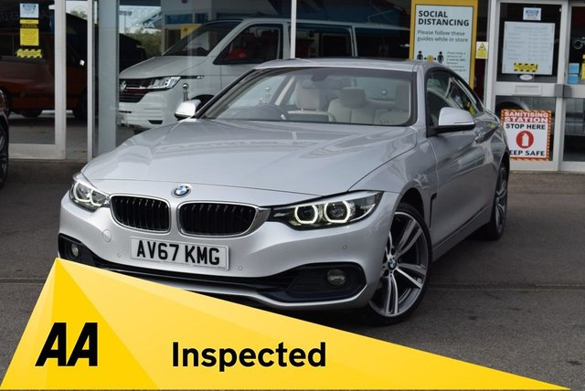 USED 2017 67 BMW 4 SERIES 2.0 420I XDRIVE SPORT 2d 181 BHP FINANCE TODAY WITH NO DEPOSIT - BMW SERVICE HISTORY