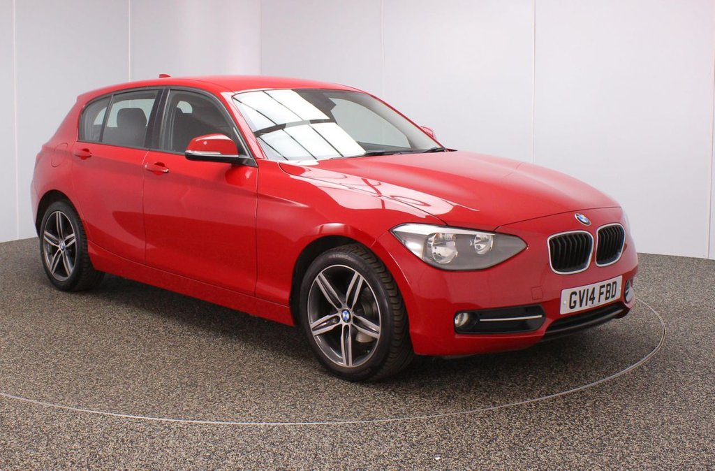 USED 2014 14 BMW 1 SERIES 1.6 116I SPORT 5DR 135 BHP BMW SERVICE HISTORY + PARKING SENSOR + BLUETOOTH + AIR CONDITIONING + MULTI FUNCTION WHEEL + DAB RADIO + AUX/USB PORTS + ELECTRIC WINDOWS + ELECTRIC MIRRORS + 17 INCH ALLOY WHEELS