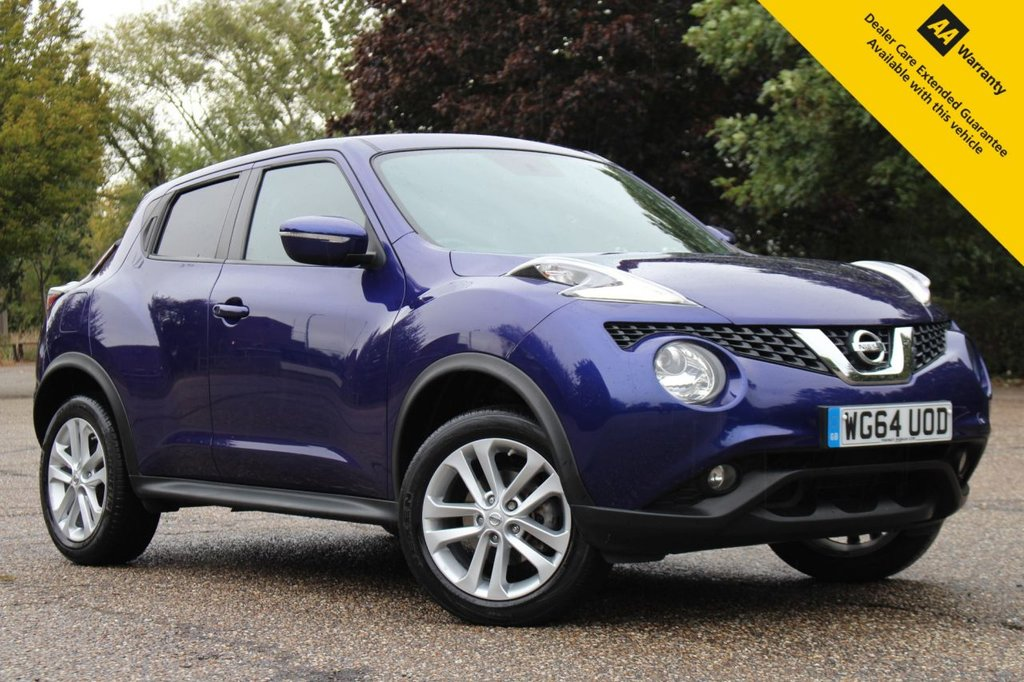 USED 2015 64 NISSAN JUKE 1.6 ACENTA PREMIUM XTRONIC 5d 117 BHP ** LOW MILEAGE PETROL AUTOMATIC ** SAT NAV ** REAR PARKING CAMERA ** CRUISE CONTROL ** CLIMATE CONTROL ** BLUETOOTH ** ULEZ CHARGE EXEMPT ** LOW RATE £0 DEPOSIT FINANCE AVAILABLE **