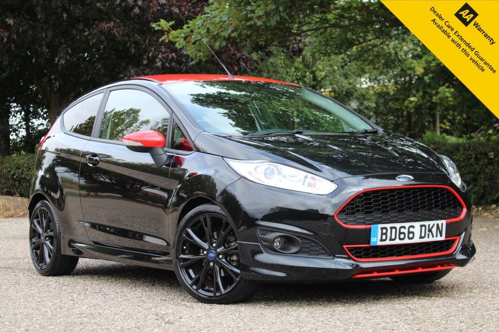 USED 2016 66 FORD FIESTA 1.0 ZETEC S BLACK EDITION 3d 139 BHP ** FULL SERVICE HISTORY ** BRAND NEW MOT + SERVICE ** DAB RADIO ** BLUETOOTH ** AIR CONDITIONING ** SPORTS SUSPENSION ** 17' GLOSS BLACK ALLOY WHEELS ** £20 ROAD TAX ** ULEZ CHARGE EXEMPT ** LOW RATE £0 DEPOSIT FINANCE AVAILABLE ** NATIONWIDE DELIVERY AVAILABLE ** CLICK & COLLECT AVAILABLE **