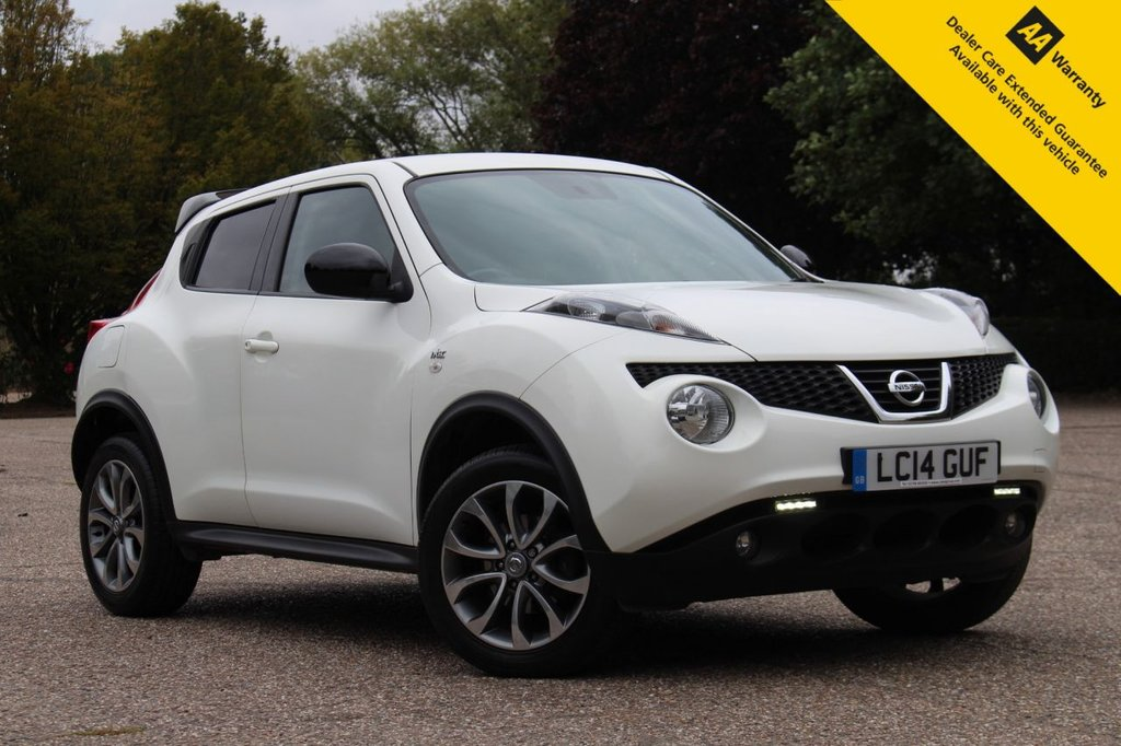 USED 2014 14 NISSAN JUKE 1.6 N-TEC 5d 115 BHP ** SAT NAV ** REAR PARKING CAMERA ** CRUISE CONTROL ** CLIMATE CONTROL ** BLUETOOTH ** BRAND NEW FULLY REFURBISHED ALLOY WHEELS ** LOW RATE £0 DEPOSIT FINANCE AVAILABLE ** ULEZ CHARGE EXEMPT **