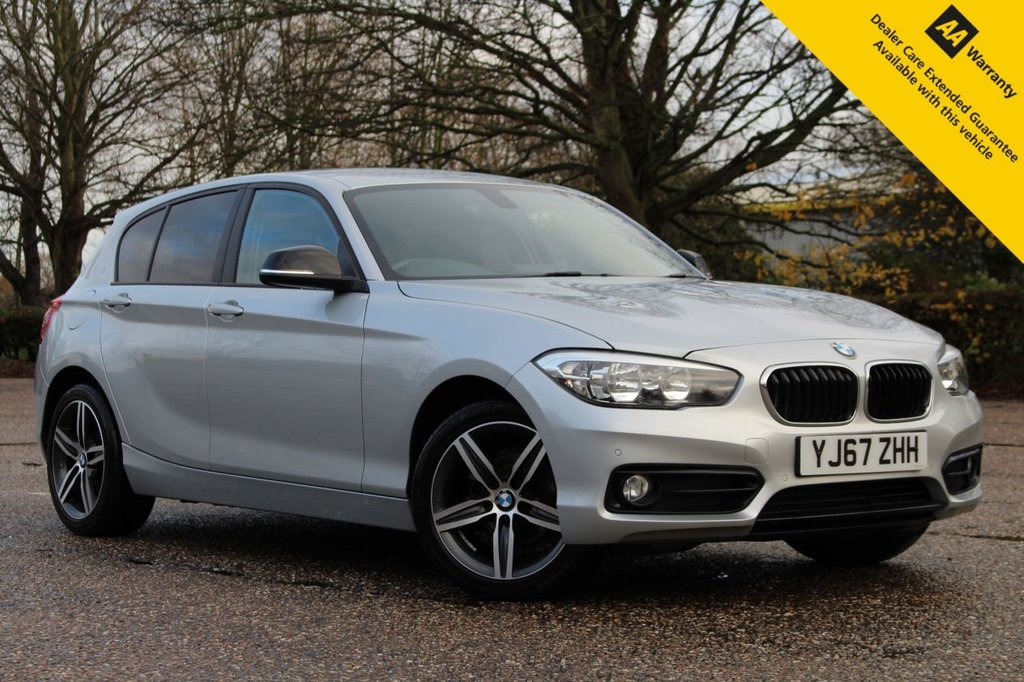 USED 2017 67 BMW 1 SERIES 1.5 116D SPORT 5d 114 BHP ** FULL SERVICE HISTORY ** BRAND NEW SERVICE + ADVISORY FREE MOT ** UPGRADED SAT NAV ** UPGRADED FRONT + REAR PARKING AID ** BLUETOOTH ** AUTO LIGHTS + WIPERS ** CRUISE CONTROL ** DUAL ZONE CLIMATE CONTROL ** LOW RATE £0 DEPOSIT FINANCE AVAILABLE ** NATIONWIDE DELIVERY AVAILABLE ** CLICK & COLLECT AVAILABLE **