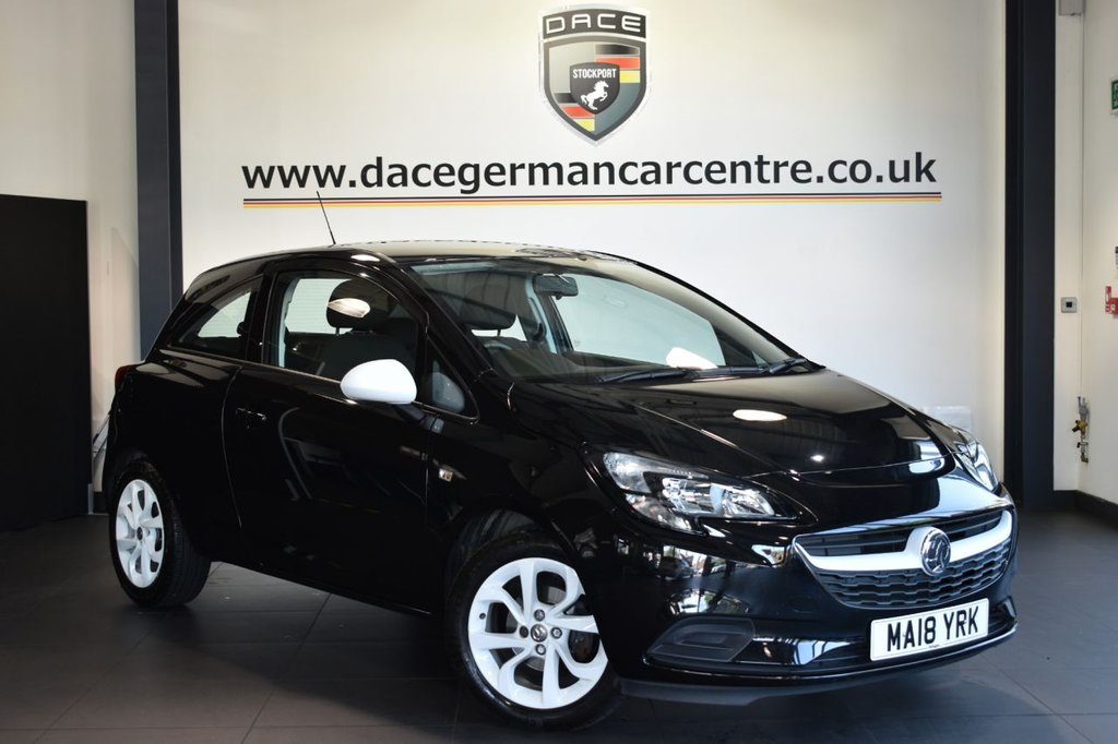 """USED 2018 18 VAUXHALL CORSA 1.4 STING 3DR 74 BHP Finished in a stunning black styled with 16""""  alloys. Upon opening the drivers door you are presented with cloth upholstery, full service history, bluetooth, cruise control, multi functional steering wheel, city mode button, usb port"""
