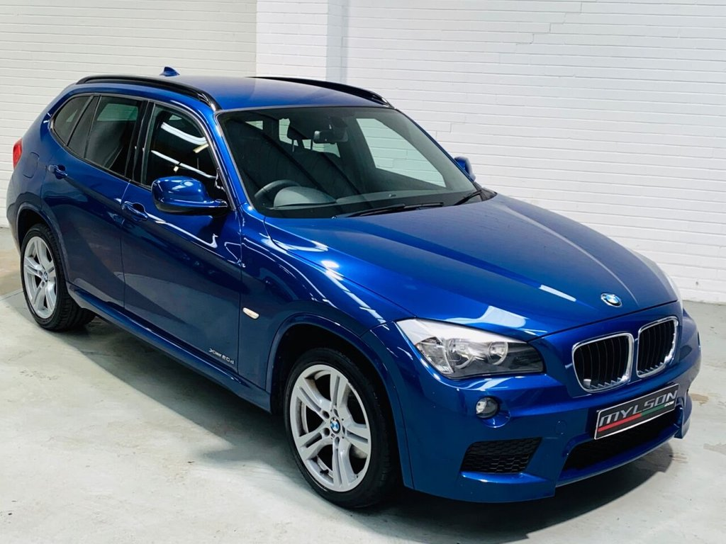 USED 2012 12 BMW X1 2.0 XDRIVE20D M SPORT 5d 174 BHP M Sport Auto XDrive Model, Le Mans Blue with Black Leather Interior, Heated Seats, Bluetooth